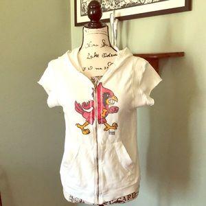 Tops - Louisville Cardinals short sleeve zip-up top